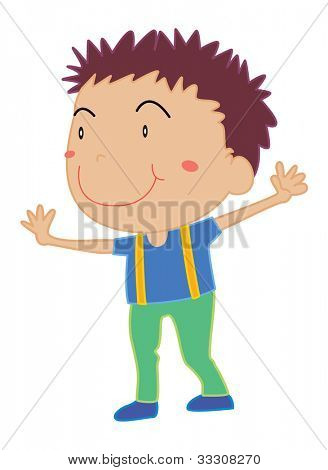 Illustration of boy standing on white - EPS VECTOR format also available in my portfolio.