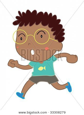 Illustration of cute Indian boy on white - EPS VECTOR format also available in my portfolio.