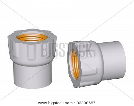 Fitting - Pvc Connection Coupler