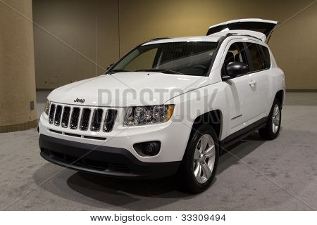 JACKSONVILLE, FLORIDA-FEBRUARY 18: A 2012 Jeep Compass at the Jacksonville Car Show on February 18, 2012 in Jacksonville, Florida.