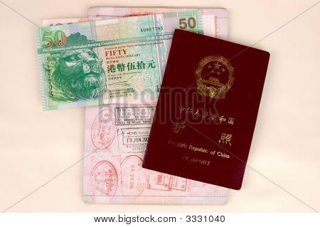 Passport And Hongkong Dollars