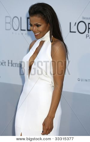 ANTIBES - MAY 24: Janet Jackson at the 2012 amfAR's Cinema Against AIDS at Hotel Du Cap on May 24, 2012 in Antibes, France