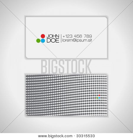 Dots Design Business Card - vector set