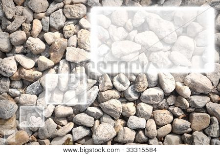 textbox on Pebbles background.