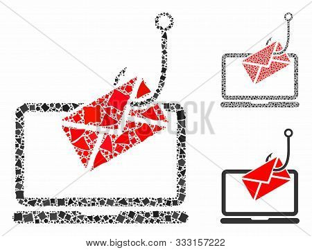 poster of Laptop Letter Phishing Mosaic Of Tremulant Pieces In Various Sizes And Shades, Based On Laptop Lette