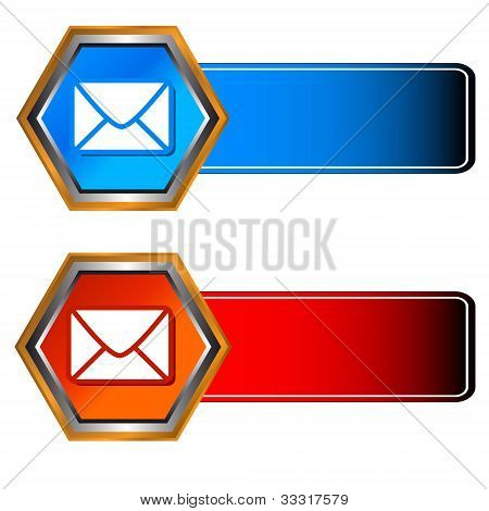 Three Mail Icons