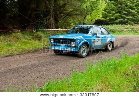 P. Fitzgerald Driving Ford Escort