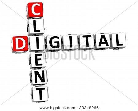 3D Client Digital Crossword