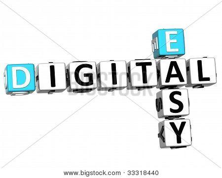 3D Easy Digital Crossword