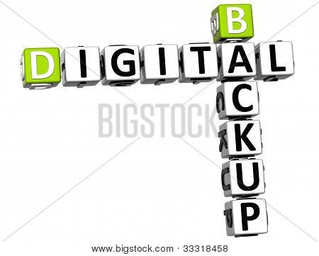 3D Backup Digital Crossword
