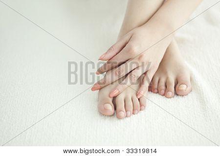 Hermosas piernas de la mujer