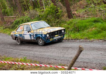 M. Nevin Driving Ford Escort