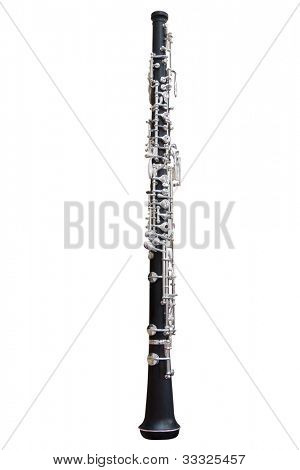 clarinet isolated under the white background
