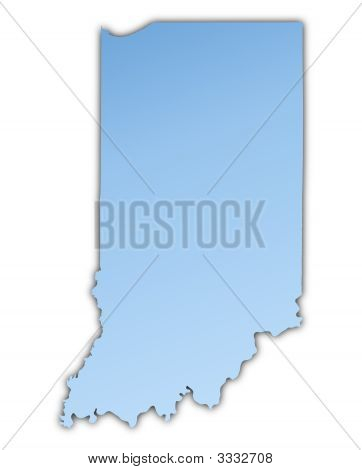 Indiana(Usa) Map