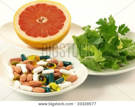 Portion Of Vitamins, Isolated