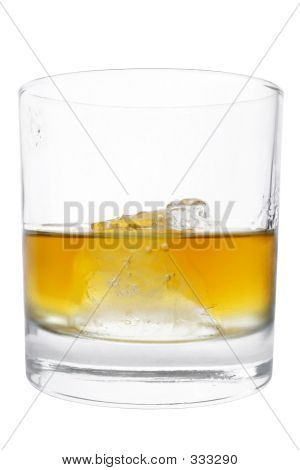 Isolated Whiskey Tumbler