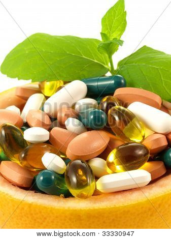 Medication In Bowl, Close Up