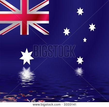 Agua de la bandera australiana