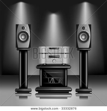Sistema de sonido de Audio de alta fidelidad