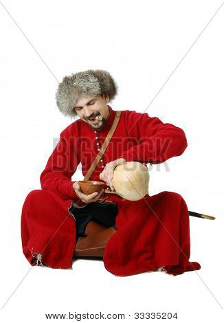 Tatar Warrior Pouring Out Calabash.