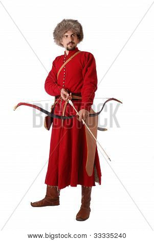 Tatar Warrior With A Bow.