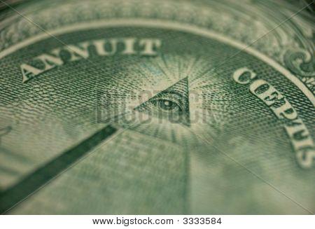 Macro Of One Dollar