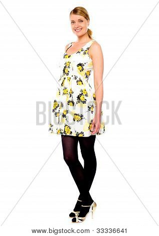 Fashion Lady Full Length Portrait
