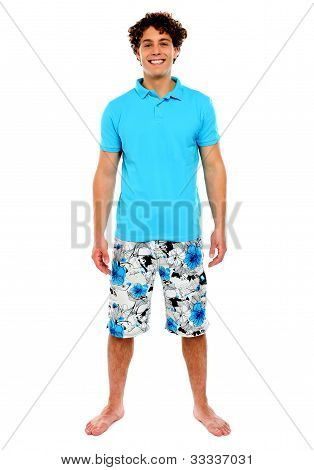 Man Standing In Shorts