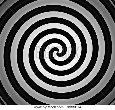 Black And White Spiral Gradient Background