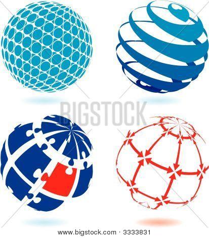 vier Globen