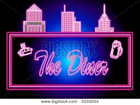 die Leuchtschrift diner