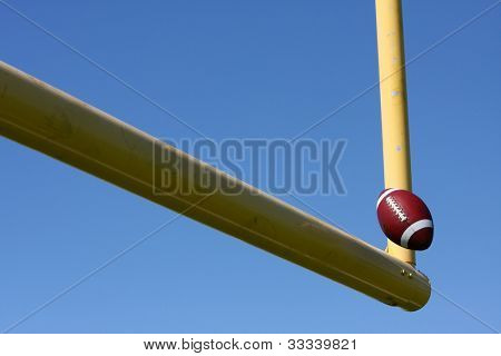 American Football kicked through the Goal Posts or Uprights