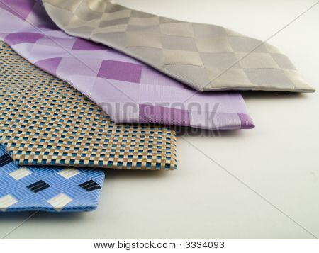 Close Up Neck Ties Showing Pattern