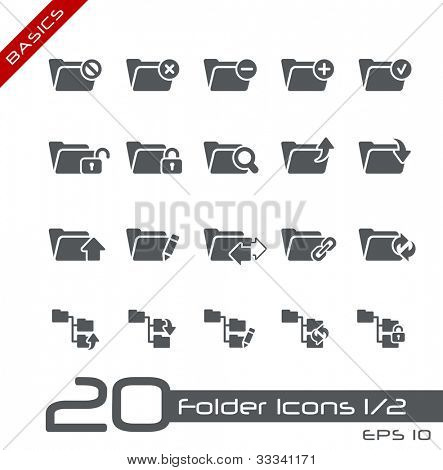 Folder Icons - 1 of 2 // Basics