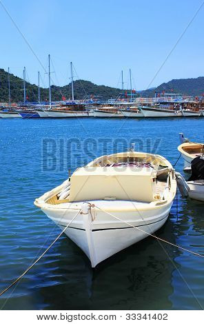 Boat And Yachts, Near Kekova Island, Turkey