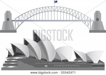 Hitos del Skyline de Sydney Australia
