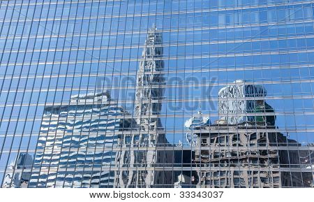 Reflection Of Old And New Chicago Buildings