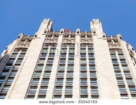 Top Of Chicago Tribune Tower