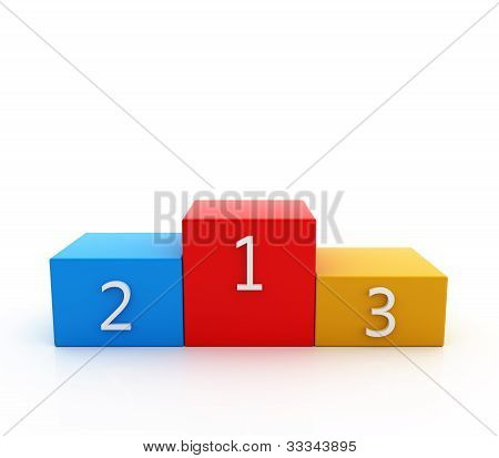 Podium Color On White Background