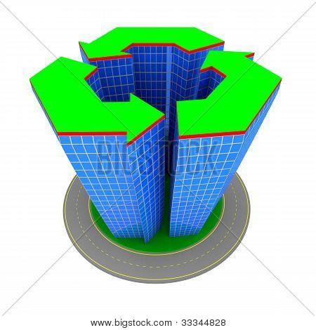 Building recycle symbol