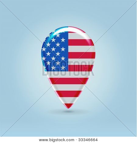 Usa Map Application Point Symbol