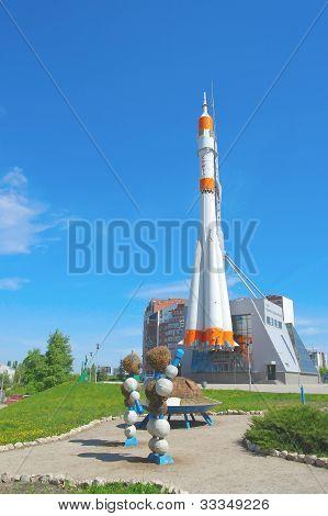 "Russian Rocket ""soyuz"" For Spaceship"