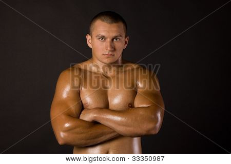 Muscled Male Model Bodybuilder