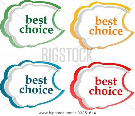 Bubble Speech With Best Choice Motive