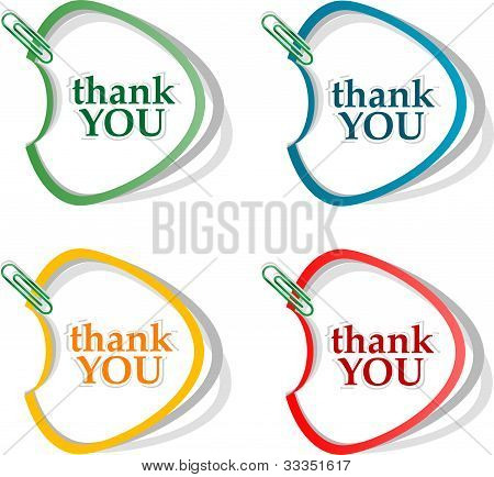 Thank You - Grateful Bubbles. Vector
