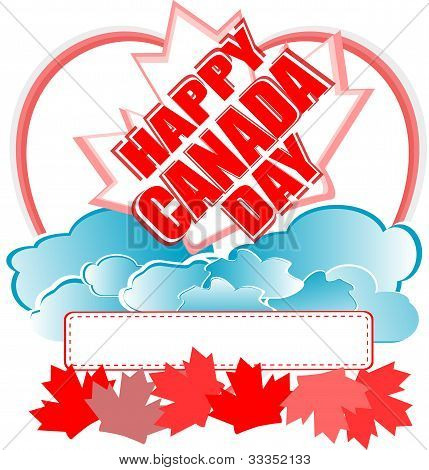 Happy Canada Day Vector Card