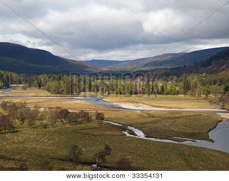 River Dee Area, West Of Braemar, Scotland.