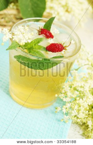 Drink From Elder With Strawberries