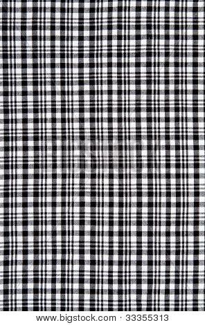 Preto e branco xadrez pano