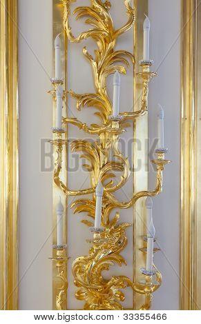 Vintage Golden Candlestick